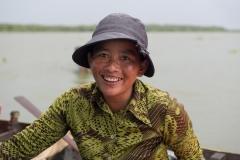 Bootsverkäuferin am Tonle Sap | Kambodscha