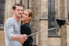Pärchen-Selfie in Prag