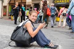 Streetfotografin in Prag